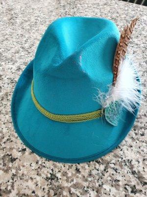 no name Sombrero de fieltro turquesa