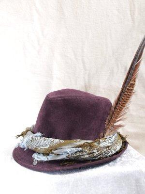 Chapeau bavarois brun pourpre