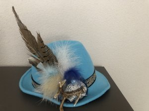Traditional Hat azure-neon blue