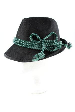 Folkloristische hoed zwart-bos Groen simpele stijl