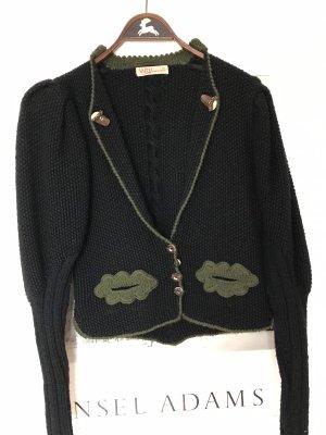 INZY Tradycyjna kurtka czarny-ciemnozielony