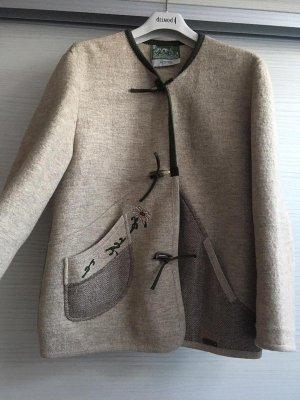 Tradycyjna kurtka oliwkowy-w kolorze białej wełny
