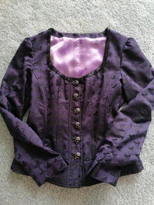 Tradycyjna kurtka czarny-ciemny fiolet