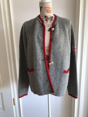 Reitmayer Tradycyjna kurtka ciemnoszary-ciemnoczerwony