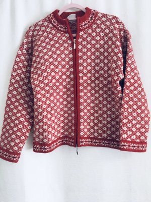 Trachtenjacke-Strickjacke-Rot/Weiß- Country Lady-Gr. M