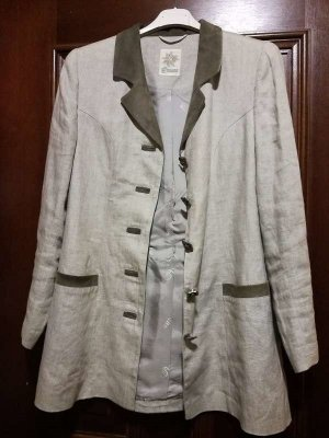 Amann Traditional Jacket light grey linen
