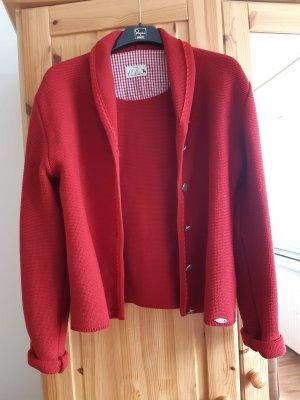 Huber Mode und Tracht Veste bavaroise rouge carmin-rouge foncé