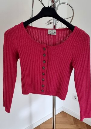 Chaqueta de lana rojo frambuesa Algodón