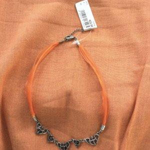 Collier arancione-argento