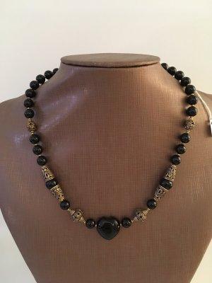 no name Necklace black-bronze-colored