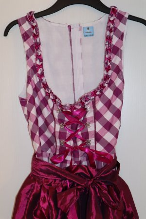 Alpenzauber Dirndl dark red-white