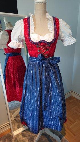 Landhaus by C&A Vestido Dirndl azul-rojo