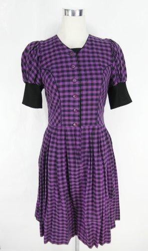 Alphorn Dirndl lilac-black cotton