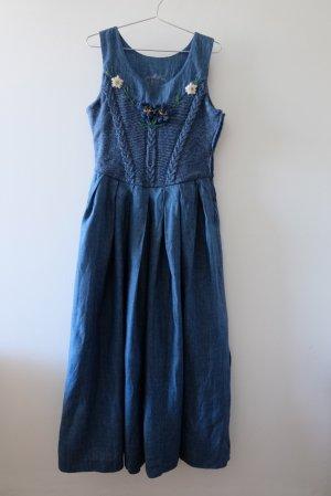 Trachtenkleid jeansblau mit Strickeinsatz