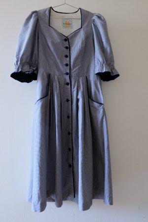 Trachtenkleid Vichykaro dunkelblau