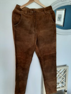 Title unknow Leather Trousers light brown-brown