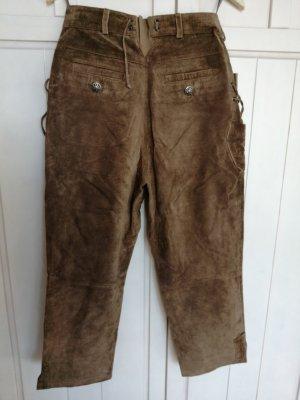 Landhaus Tradycyjne skórzane spodnie jasnobrązowy