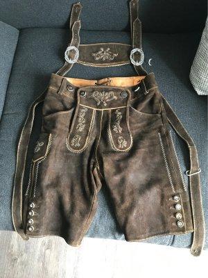 Country Maddox Tradycyjne skórzane spodnie brązowy