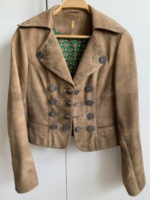 alm sach Tradycyjna kurtka szaro-brązowy Skóra