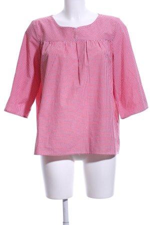 Trachtenmanufaktur München Camicia a scacchi rosa-bianco stampa integrale