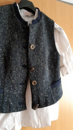Sportalm Traditional Camisole dark blue-white acetate