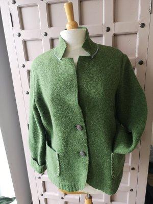 Handstrickerei Irmi Lanz Traditional Jacket grass green