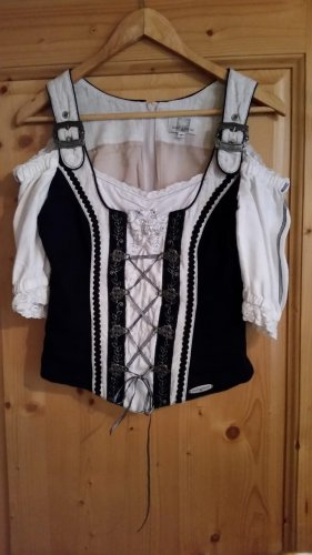 Blusa tradizionale bianco-nero