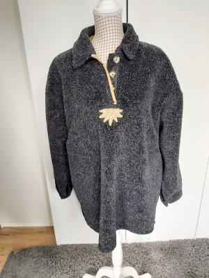 Sonnblick Tradycyjny sweter ciemnoszary