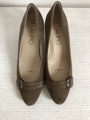 di Lauro Backless Pumps taupe