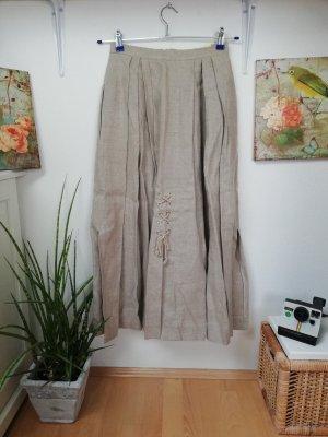 Edith Moser Tradycyjna spódnica szaro-brązowy-jasnobrązowy