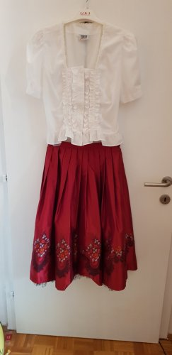 Folkloristische rok karmijn Polyester