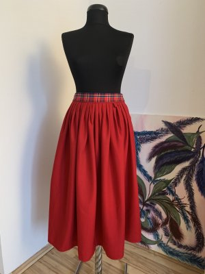 Basset Wool Skirt red-dark red new wool