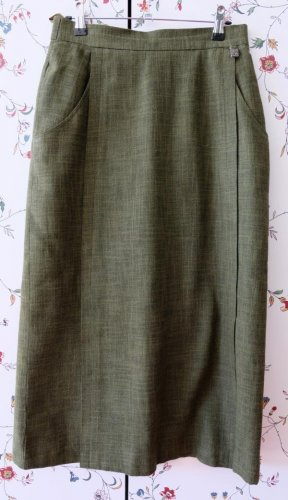 Traditional Skirt forest green cotton