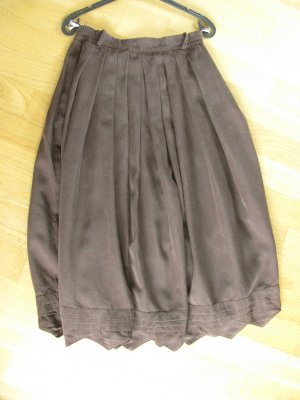 Berwin & Wolff Traditional Skirt dark brown viscose