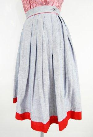 Gonna tradizionale rosso-blu pallido Lino