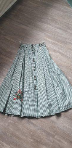 Hammerschmid Lniana spódnica biały-zielony