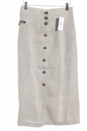 Traditional Skirt oatmeal-grey brown classic style
