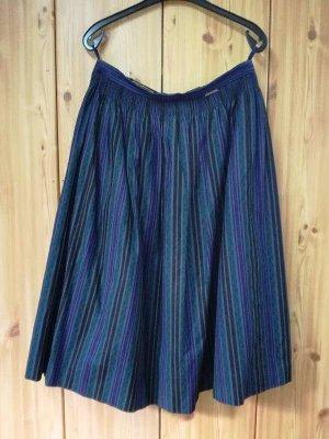 Geiger Tradycyjna spódnica ciemnozielony-brązowo-fioletowy