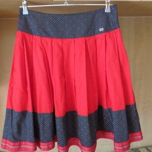 Spieth & Wensky Folkloristische rok rood-antraciet Katoen