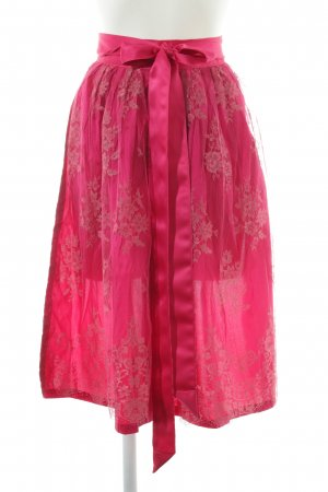 Traditional Apron magenta simple style