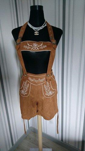 Dirndline Pantalon bavarois brun tissu mixte