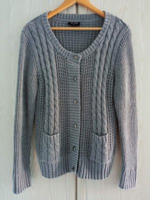 Gina Coarse Knitted Jacket grey cotton