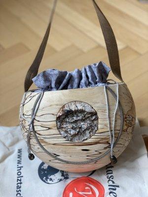 s'Holztascherl Bolso folclórico marrón claro madera