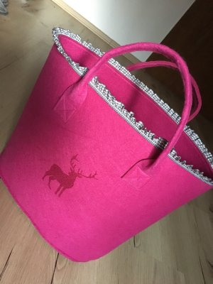 Bolso folclórico rosa-gris