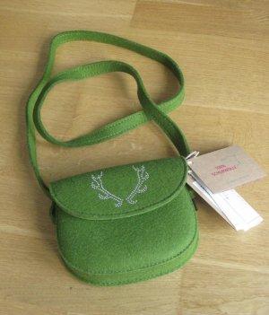 Bolso folclórico verde hierba Lana