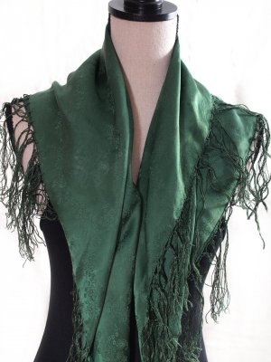 Traditional Scarf dark green
