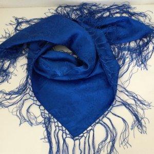 Pañuelo folclórico azul Seda