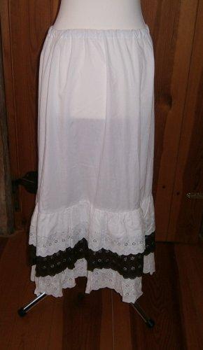 Sottogonna bianco-marrone scuro Cotone