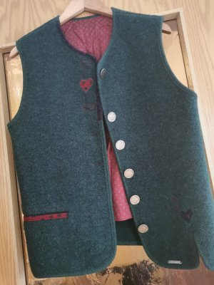 Giesswein Traditional Vest forest green