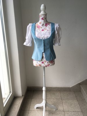Traditional Vest white-light blue